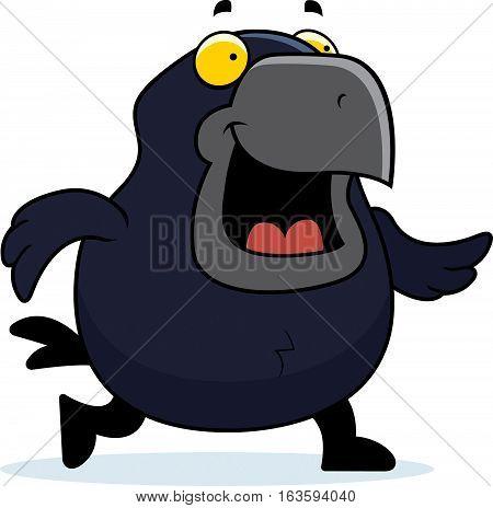 Cartoon Crow Walking