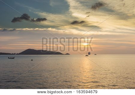 Solitude sunset and Kalim beach Phuket Thailand