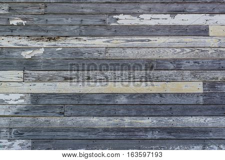 Old Weatherd And Peeling White Painted Wood Wall