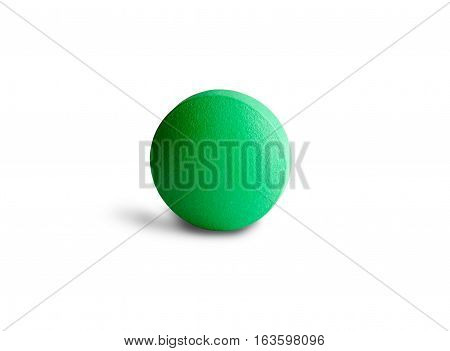 green round pill on the white background