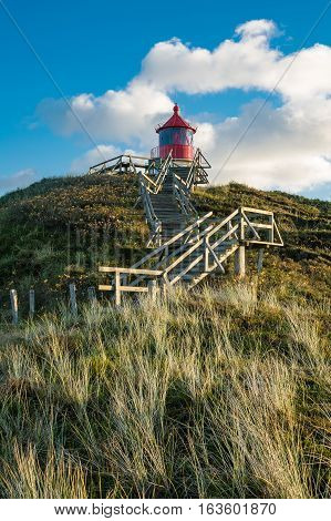 Leuchtturm in Norddorf auf der Insel Amrum.