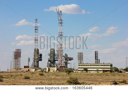 Baikonur Cosmodrome. Kazakhstan. the launch pad of the Space Shuttle Reusable Buran