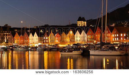 Sunset In Bergen, Norway