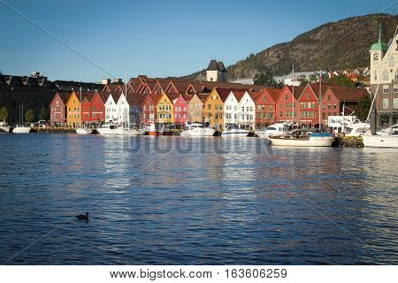 Daytime And Sunny In Bergen, Norway