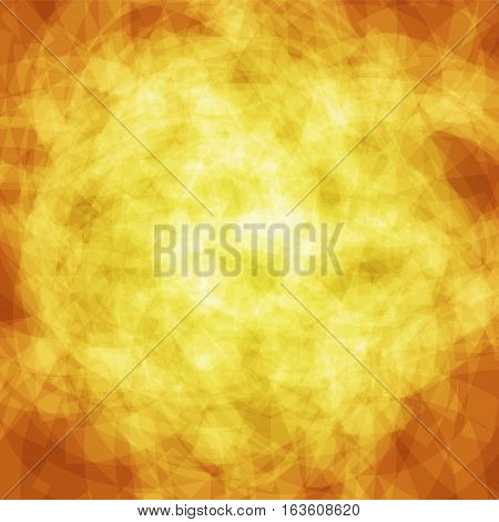 abstract vector spotted background - golden yellow and orange