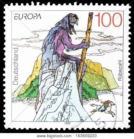GERMANY - CIRCA 1997 : Cancelled postage stamp printed by Germany, that shows Mythology.