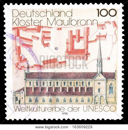 GERMANY - CIRCA 1998 : Cancelled postage stamp printed by Germany, that shows Maulbronn.