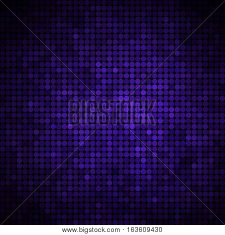 abstract vector colored round dots background - dark blue