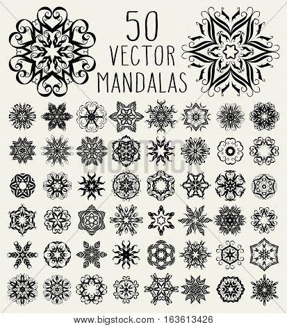 Ornate Doodle Mandalas