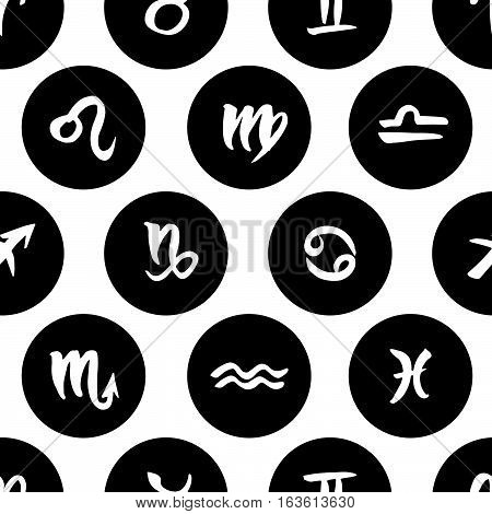 Zodiac Signs Seamless Pattern