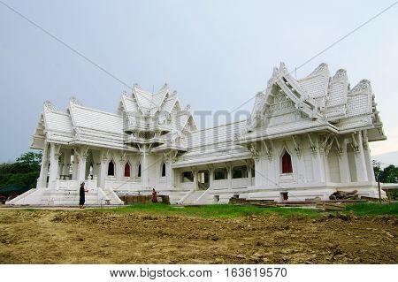 Buddhist Temple In Lumbini, Nepal, Near The Indian Borderr