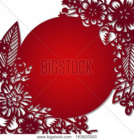 Laser cut flowers quare pattern for decorative panel. Vector template ready for printing, postcards packets, wedding invitation, engraving, paper, wood, metal.