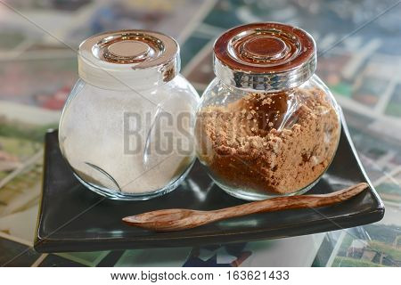 brown sugar and white cream for coffee