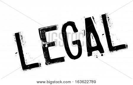 Legal rubber stamp. Grunge design with dust scratches. Effects can be easily removed for a clean, crisp look. Color is easily changed.