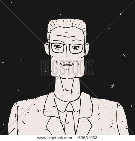 Vector Illustration Portrait Doodle Man eps 8 file format