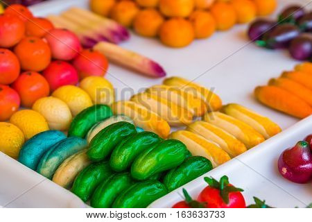Colorful Marzipan Sweets
