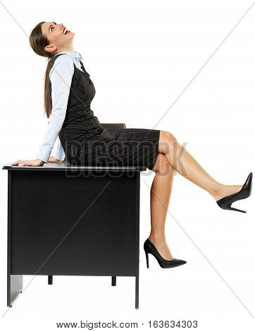 Attractive Businesswoman Relaxing At Her Desk