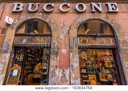 Old  Storefront In Rome Italy