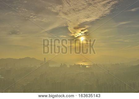 Hk As Seen From Kowloon Peak