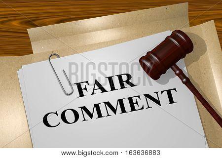 Fair Comment - Legal Concept