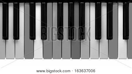 Grey Piano Keys