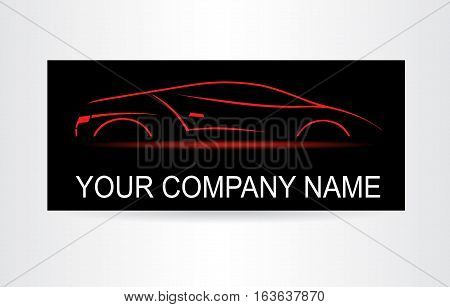 Silhouette of the car. Car symbol. Template for logotype.