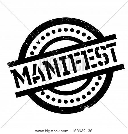 Manifest rubber stamp. Grunge design with dust scratches. Effects can be easily removed for a clean, crisp look. Color is easily changed.