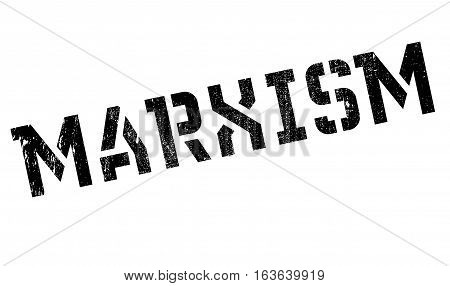 Marxism rubber stamp. Grunge design with dust scratches. Effects can be easily removed for a clean, crisp look. Color is easily changed.