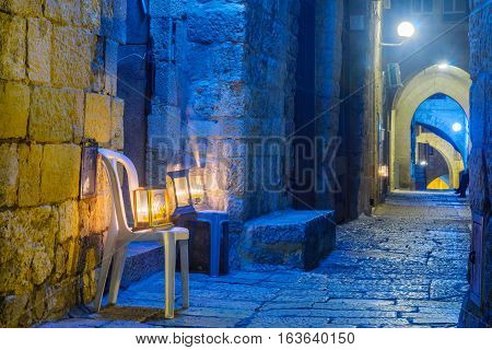 Hanukkah In The Jewish Quarter, Jerusalem