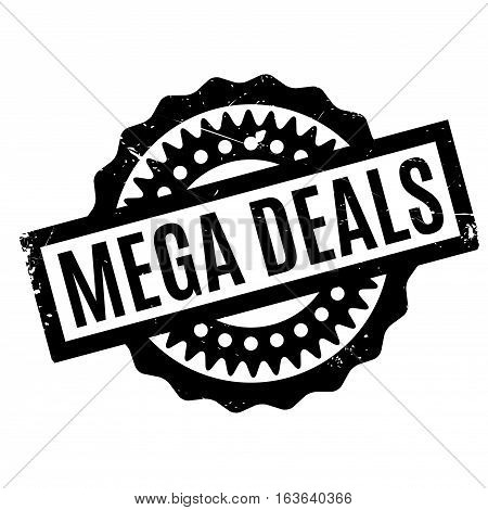 Mega Deals rubber stamp. Grunge design with dust scratches. Effects can be easily removed for a clean, crisp look. Color is easily changed.