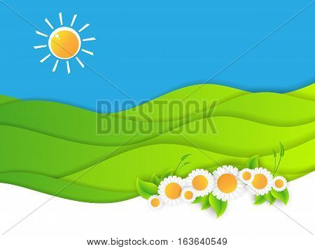 Floral vector flat design. Illustration of the summer vacation. elements for your design. Eps10