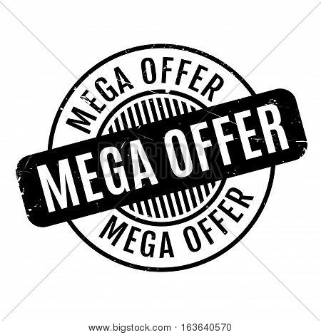 Mega Offer rubber stamp. Grunge design with dust scratches. Effects can be easily removed for a clean, crisp look. Color is easily changed.