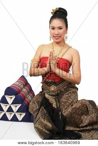 Woman In Thai Suit