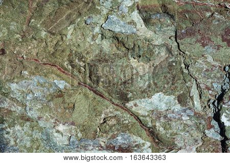 Geological stone nature background with kale hue.