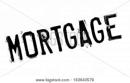 Mortgage rubber stamp. Grunge design with dust scratches. Effects can be easily removed for a clean, crisp look. Color is easily changed.