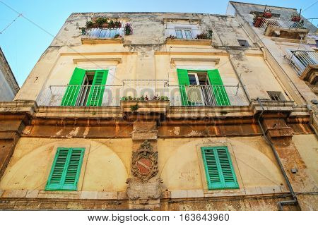 Historical palace of Molfetta. Puglia. Southern Italy.