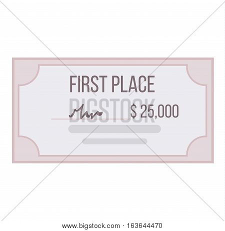 Certificate blank vector icon that is used in currency and diplomas. Graduation ornament border frame. Retro award decoration money bank check coupon.
