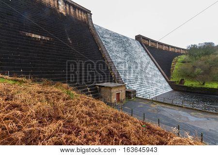 Water Cascading Down Avon Dam, Dartmoor