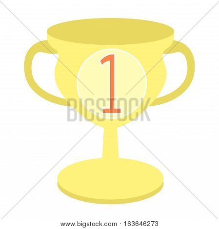 Sports Goblet Win First Place. Vector Illustration