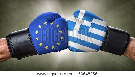 A Boxing Match Between The European Union And Greece