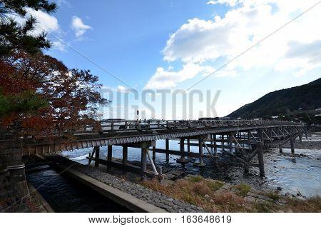 Famous Togetsukyo Bridge At Arashiyama