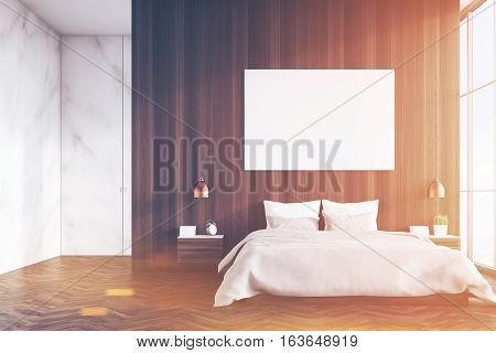 Marble And Wooden Bedroom, Toned