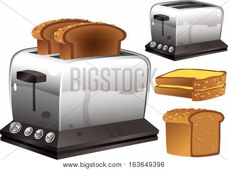 An illustration of a typical electric toast maker.