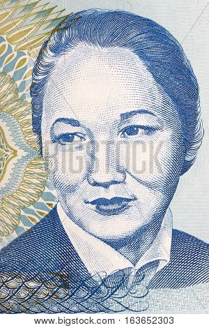 Bubusara Beyshenalieva a portrait from Kyrgyzstans money