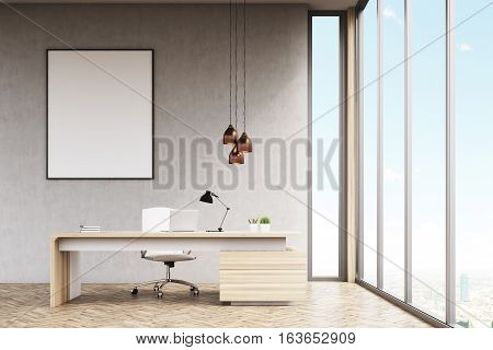 Manager's Office With Framed Poster