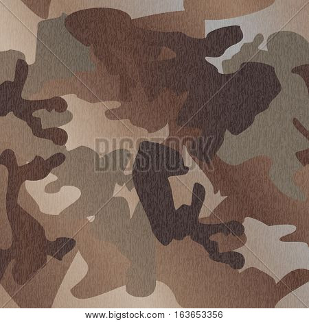 Camouflage pattern background clothing print repeatable camo glamour grunge of scratch vector. Olive brown grey