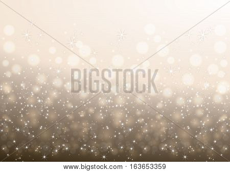 Illustration of Christmas background with stars and glitters