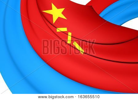 Air Force Flag Of The People's Republic Of China. 3D Illustration.