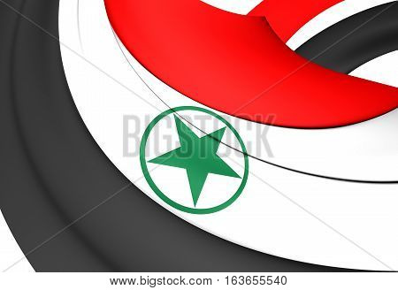 3D Flag of Arabistan. 3D Illustration. Close up.