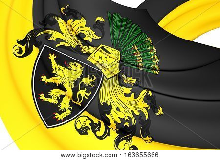 3D Flag Of Gera (thuringia), Germany. 3D Illustration.